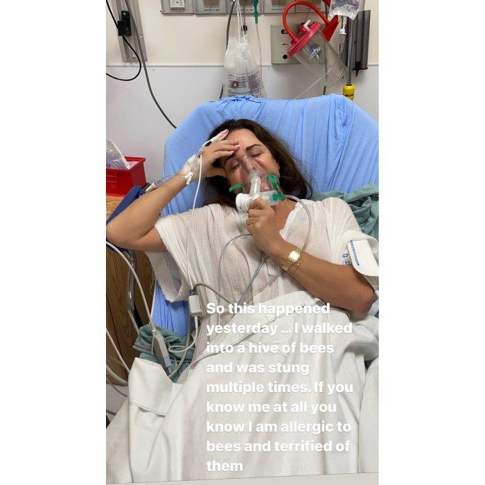 La estrella de 'Real Housewives' Kyle Richards es hospitalizada después de entrar en una colmena