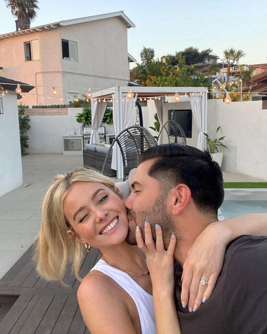 The Bachelor Hannah Godwin Dylan Barbour Reveal Their New Backyard