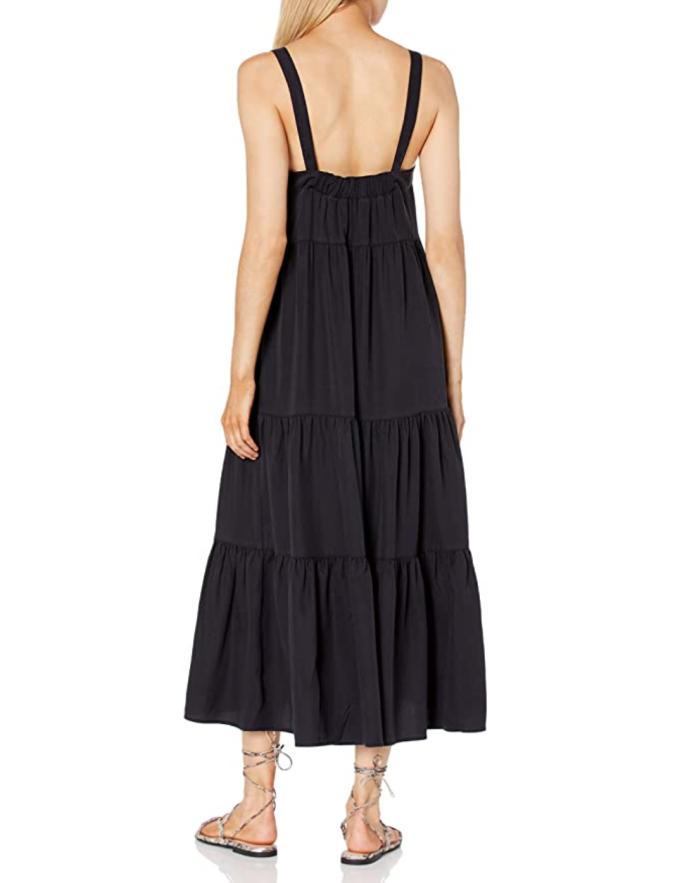 Vestido largo estilo carpa con gradas Britt de The Drop para mujer