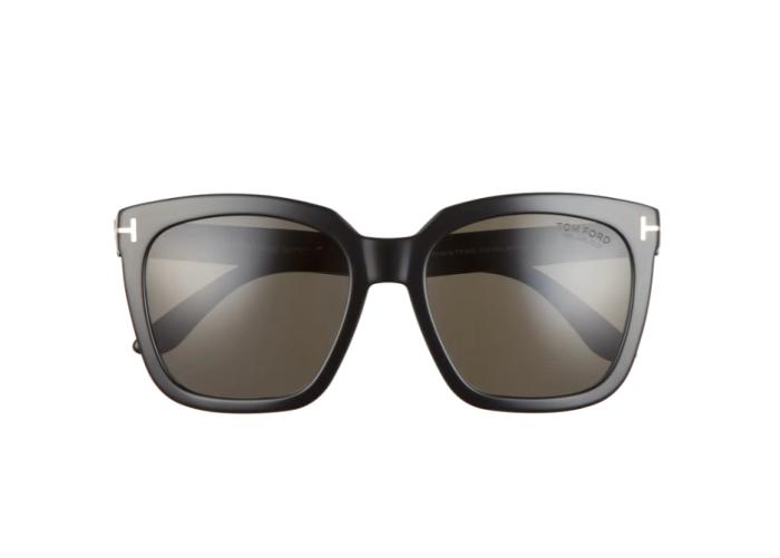 Tom Ford Amarra Gafas de sol cuadradas polarizadas de 55 mm