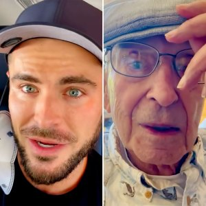 Zac Efron 'Busts' His Grandpa Out of a Retirement Home for Boys' Day: Watch