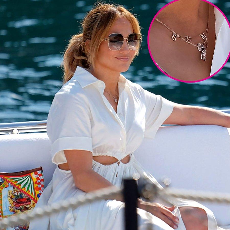 Always Near Her Heart! J. Lo Wears Ben Necklace Again