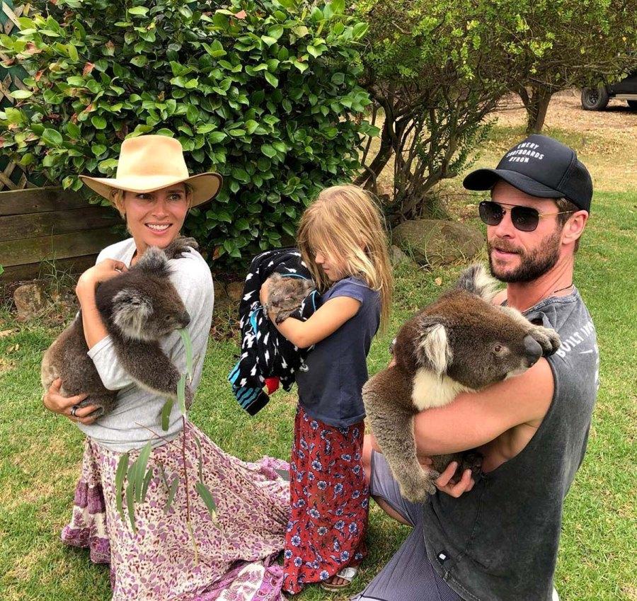 Chris Hemsworth Elsa Patakys Sweetest Family Moments