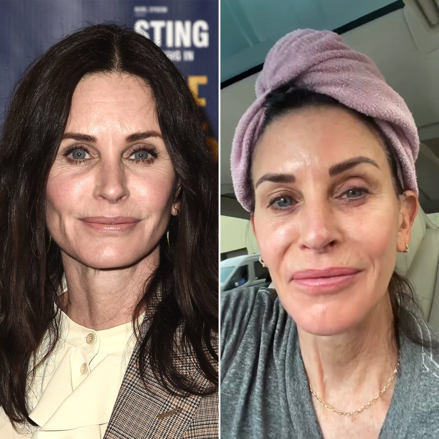 Courteney Cox Accidentally Left the House With No Makeup, Hair Towel