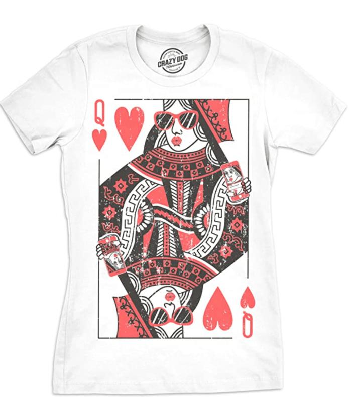 Crazy-Dog-T-Shirts-Mujer-Reina-de-Corazones-T-Shirt