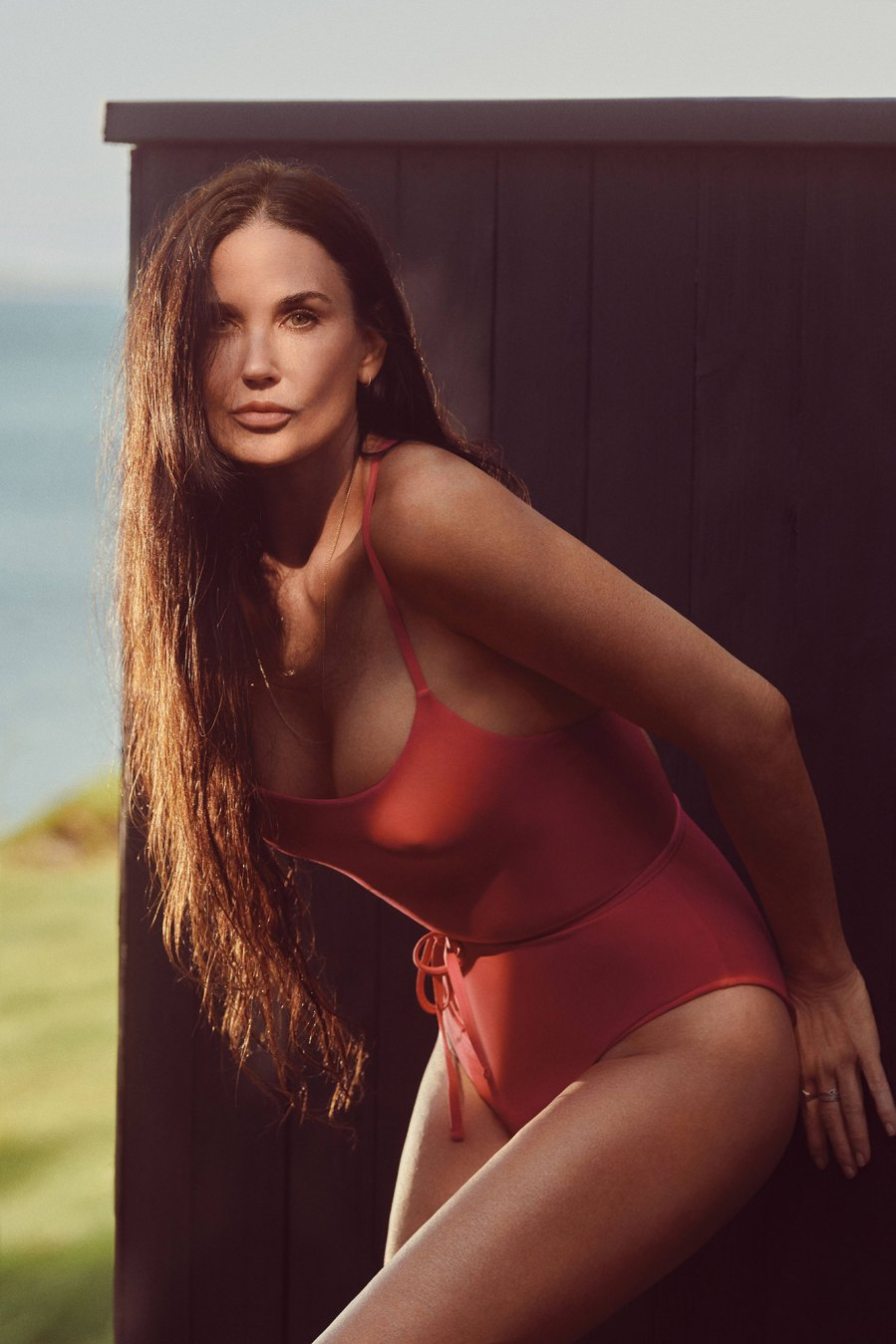 Demi Moore, 58, Ushers in 'Red Hot Summer' in Sexy Andie One-Piece