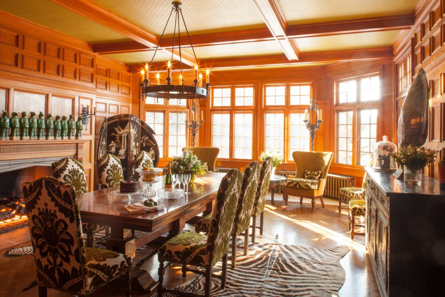 Dining Room Mick Hales Real Housewives of New York's Dorinda Medley Is Renting Out Her 18-Acres Blue Stone Manor