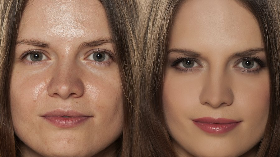 Finishing-Powder-Before-After-Stock-Photo