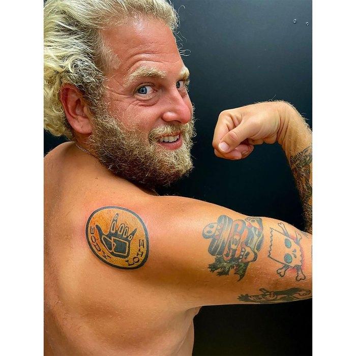 El nuevo tatuaje de Jonah Hill es el último recordatorio de 'Body Love': foto