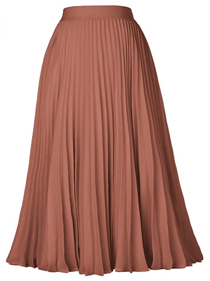 Kate Kasin Falda plisada de cintura alta para mujer