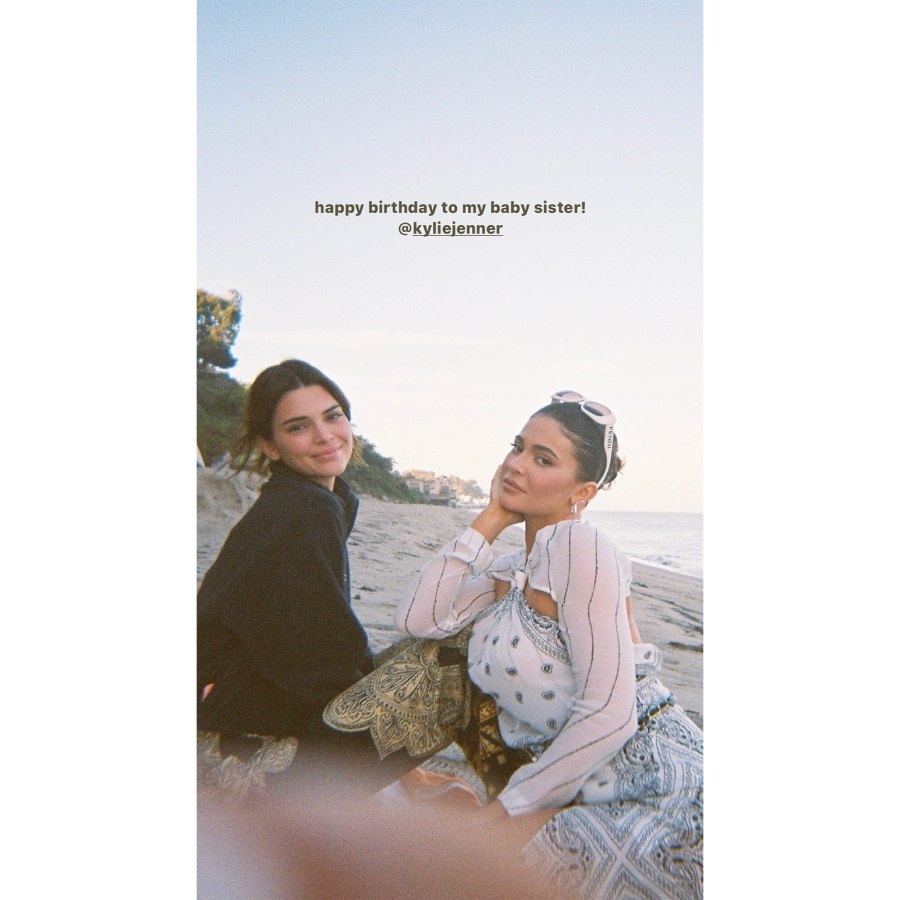 Kendall Jenner Instagram Birthday Wishes Kylie Jenner Turns 24