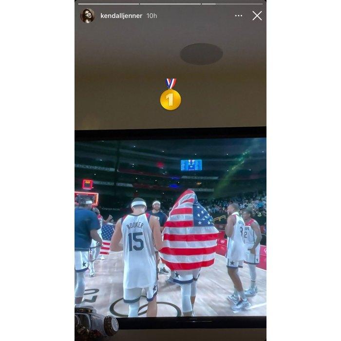 Kendall Jenner apoya a BF Devin Booker después de la medalla de oro olímpica