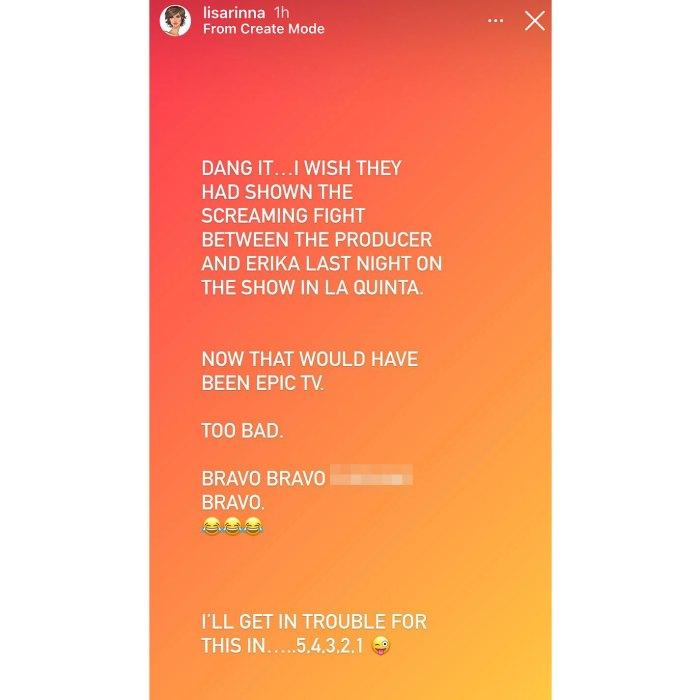 Lisa Rinna afirma que RHOBH editó una pelea a gritos entre Erika Jayne y el productor 3