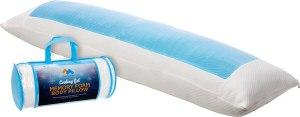 Mindful Design Cooling Memory Foam Full Body Pillow