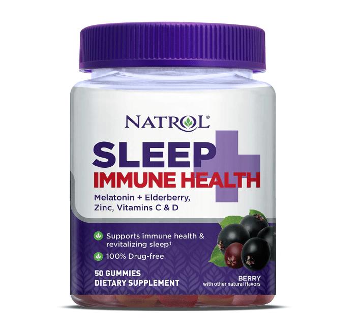 Baya de goma Natrol Sleep + Immune Health