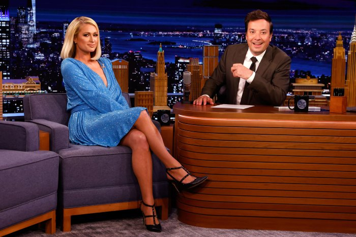 Paris Hilton planea tener 10 vestidos de novia para su gran día Jimmy Fallon Tonight Show