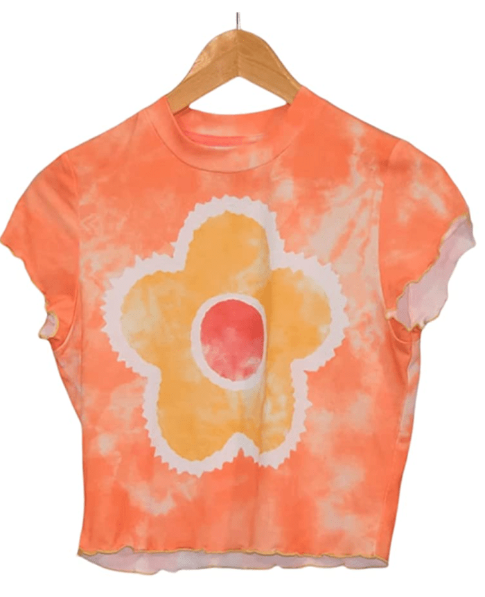 SOLILOQUY-Mujer-CropY2k-Cute-Camiseta gráfica
