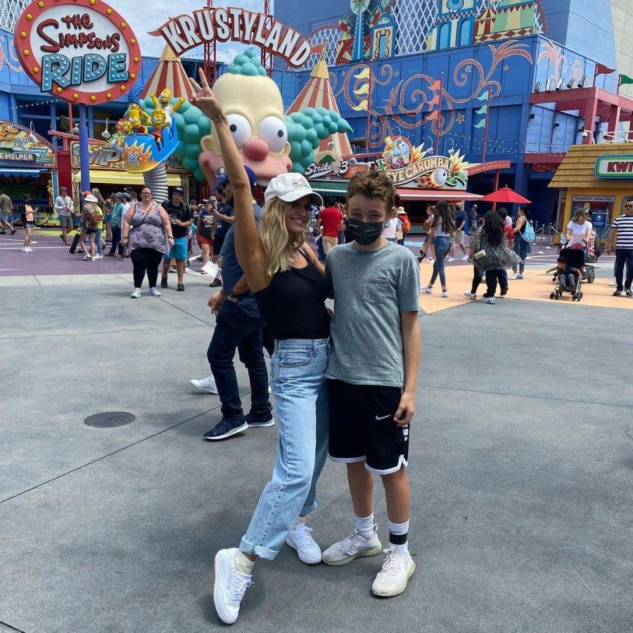 'Summer Days'! Ashlee Simpson Visits Universal Studios With Son Bronx