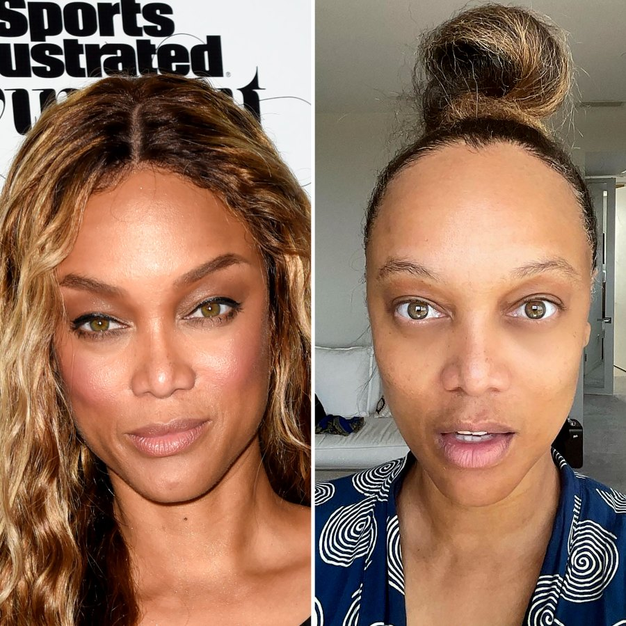 Tyra Banks, 47, Is a Natural Beauty in Makeup-Free Pic: 'I Take a Wig Break'