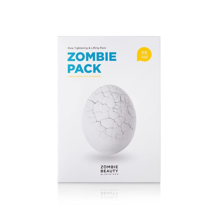 Paquete Zombie - Mascarilla facial para lavar