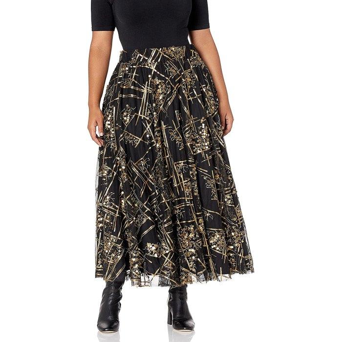 amazon-haciendo-el-corte-andrea-falda de lentejuelas