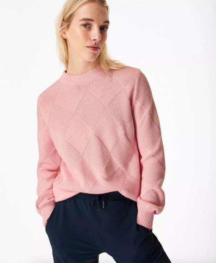 knit-pieces-diamond-stitch-sweater