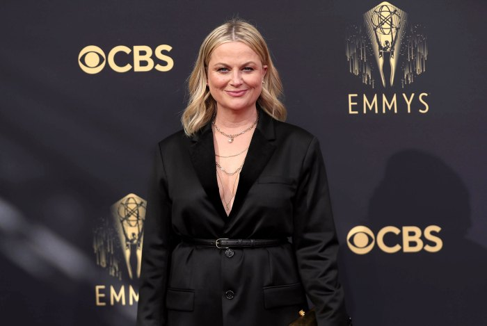 Amy Poehler 2021 Emmys Glam Was All About Natural Beauty 2