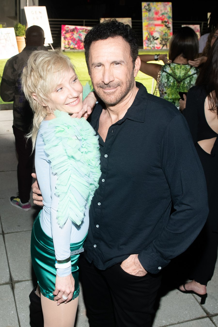 Anne Heche and Peter Roth Thomas attend NYFW party on September 9.
