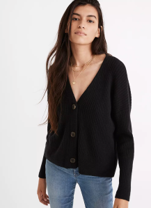 Cameron Ribbed Cardigan Sweater in Coziest Yarn