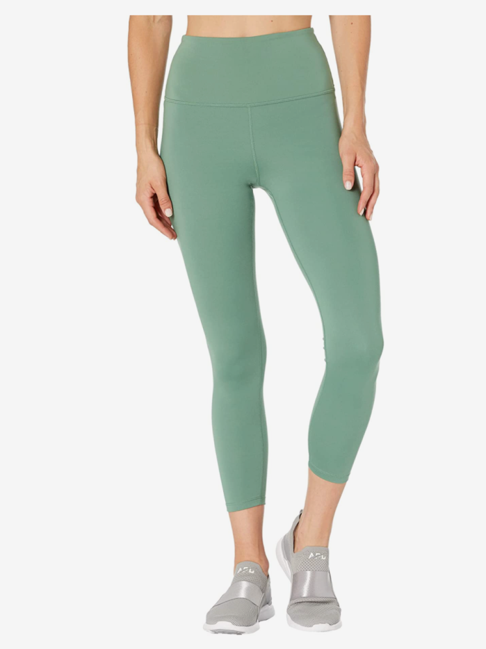 Carbon38 High-Rise 7/8 Length Leggings In Cloud Compression