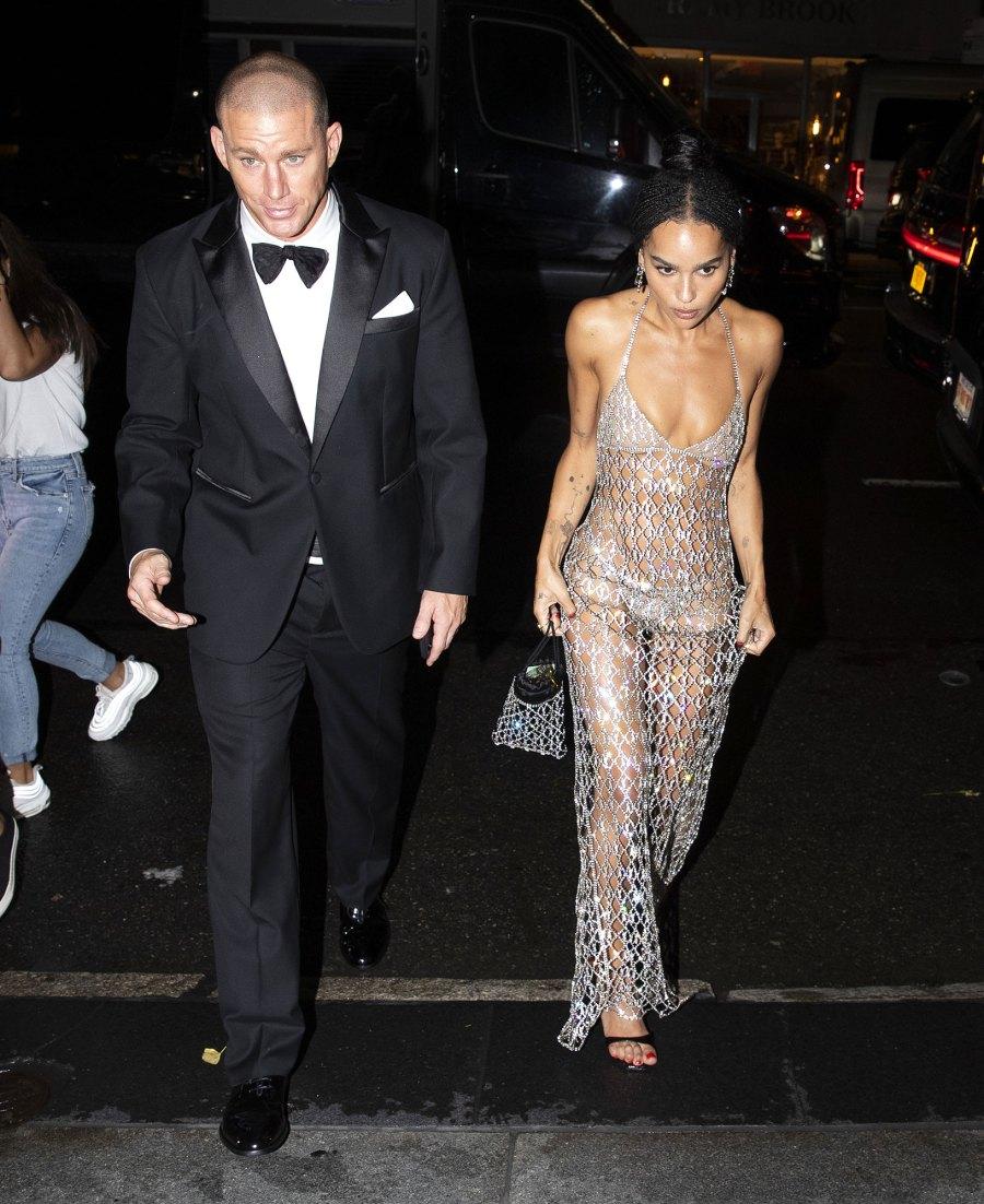 Channing Tatum and Zoe Kravitz Leave Met Gala Together After Walking Red Carpet Separately 2021 Met Gala 02