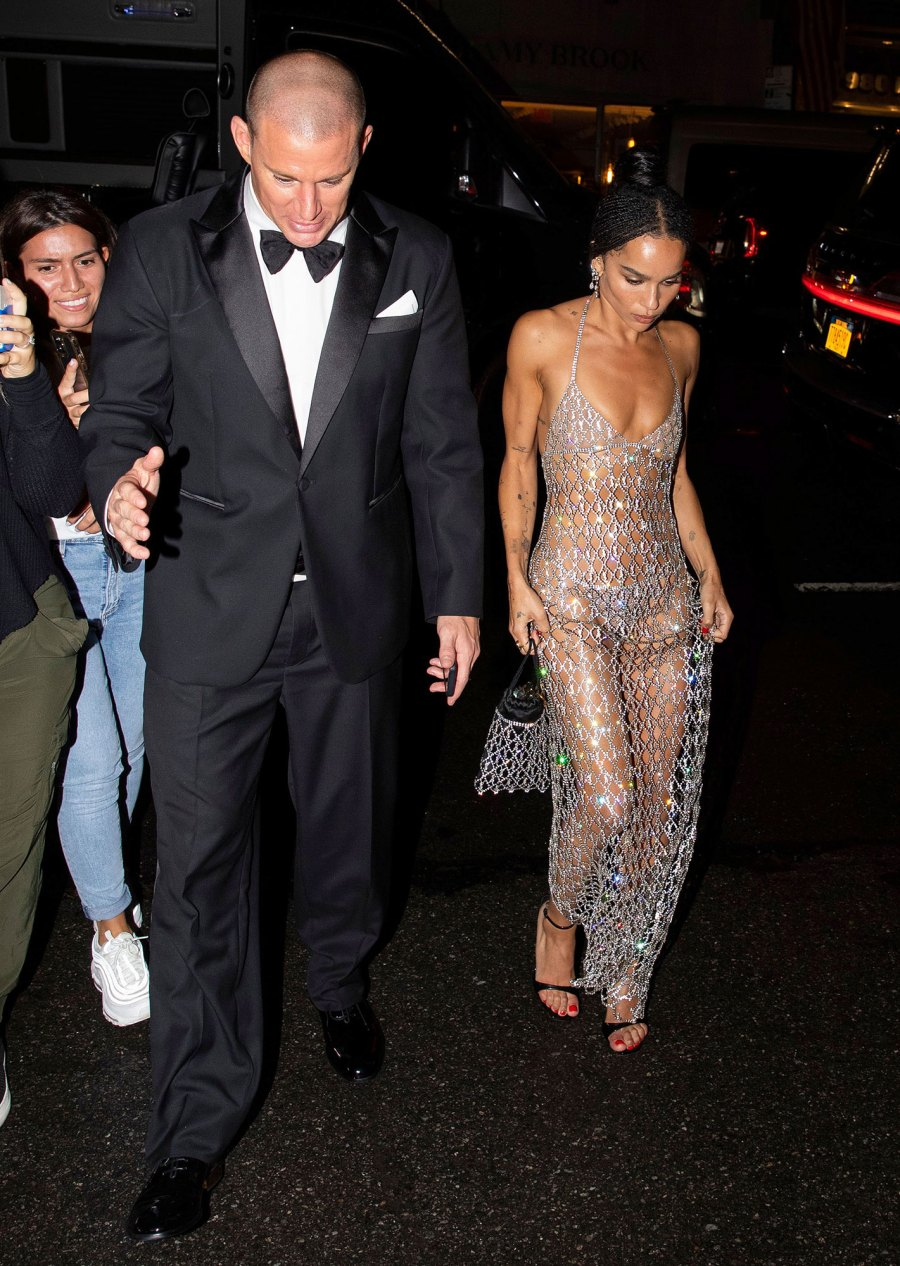 Channing Tatum and Zoe Kravitz Leave Met Gala Together After Walking Red Carpet Separately 2021 Met Gala 03