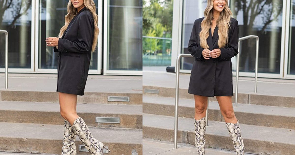 It's Your Last Chance to Shop Courtney Kerr's Sold-Out Black Blazer Dress.jpg