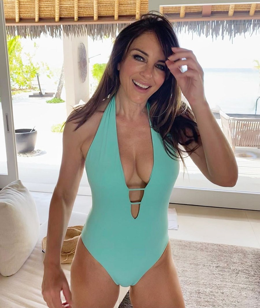 Elizabeth Hurley 56 Can-Rock One Piece Better Than Anyone