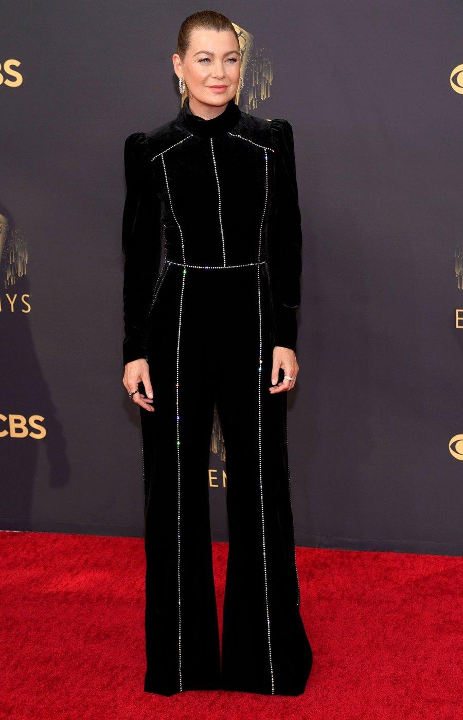 Ellen Pompeo 73rd Primetime Emmy Awards Red Carpet Arrival 2021 Emmys