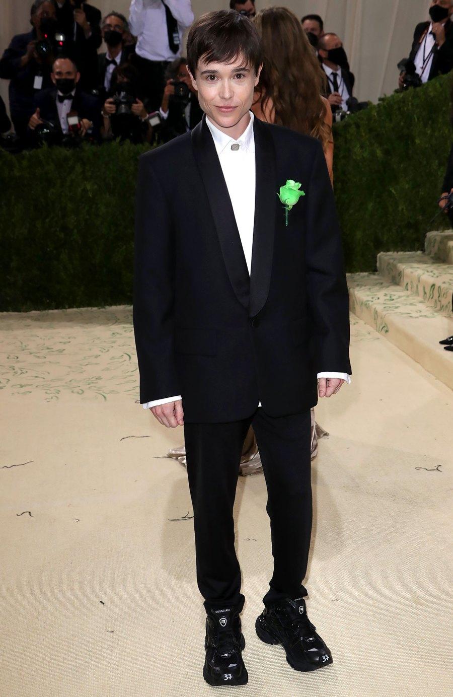 Met Gala 2021 Elliot Page Looks Dapper in All-Black on Met Gala Red Carpet: Photos
