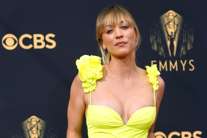 Feature Kaley Cuoco Beauty Fashion 2021 Emmys Red Carpet