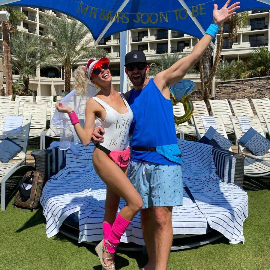 Inside Heather Rae Young and Tarek El Moussa's '80s-Inspired Joint Bachelor and Bachelorette Bash in Palm Desert