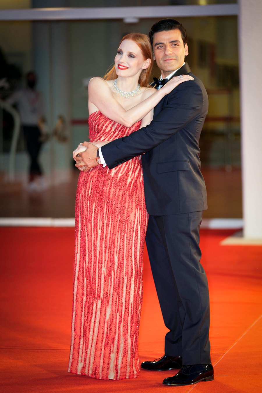 Jessica Chastain and Oscar Isaac at the Scenes from a Marriage premiere