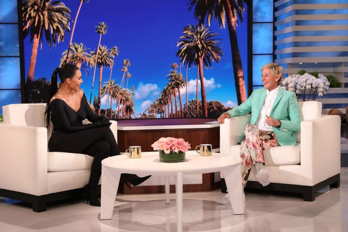 Kim Kardashian Corrects Ellen DeGeneres for Assuming Son Psalm Gold Chain Is Fake