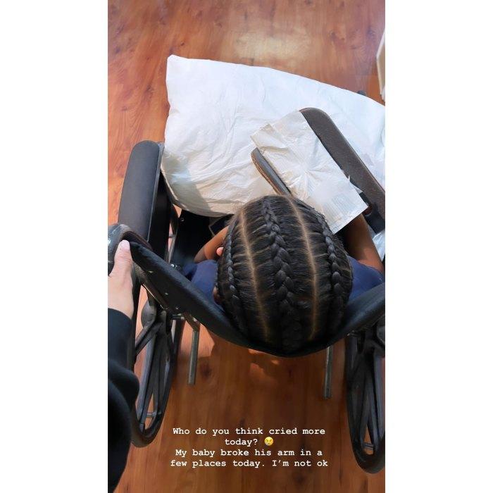 Kim Kardashian revela que Son Saint, de 5 años, se rompió el brazo: 'No estoy bien'