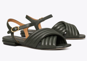 Kira Quilted Ankle-Strap Sandal