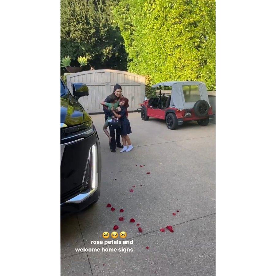 Kourtney Kardashian's Kids Surprise Her Following Her European Getaway With Travis Barker