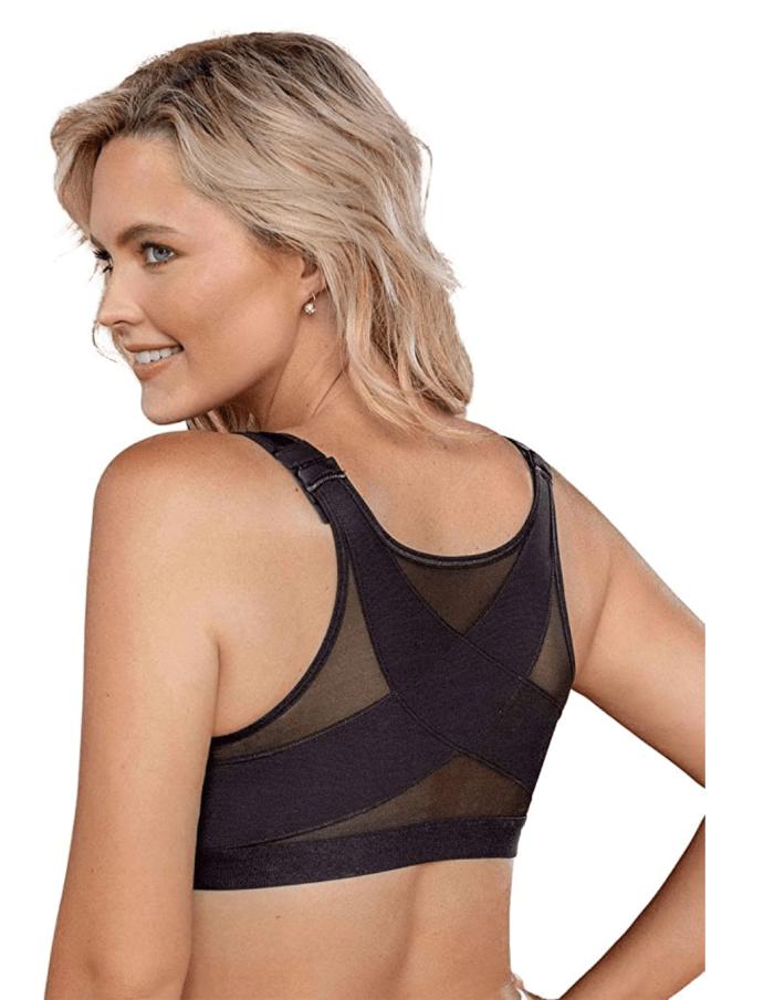 Leonisa Front Closure Full Coverage Back Support Posture Corrector Bra