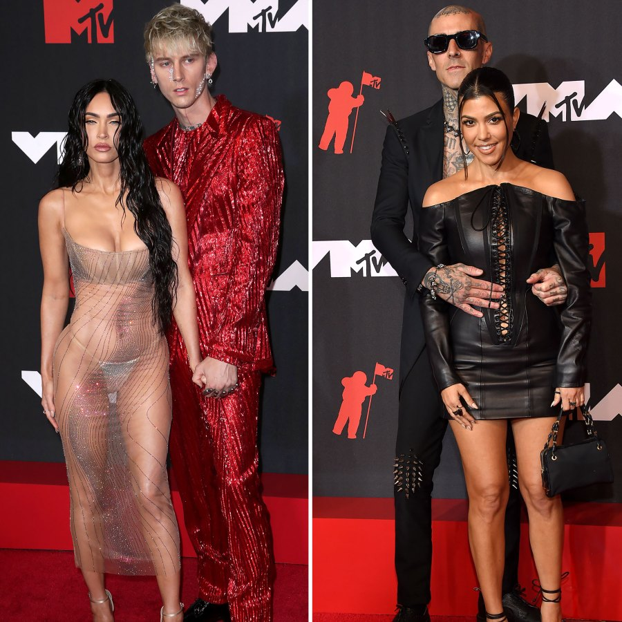 VMAs 2021 MGK and Megan Fox Double Date With Kourtney and Travis After Dramatic VMAs