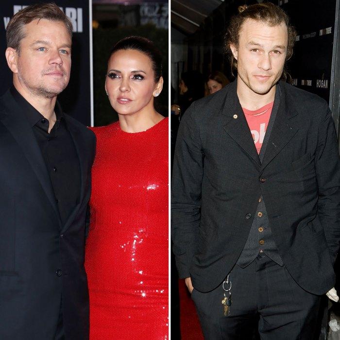 Matt Damon y su esposa tienen tatuajes a juego con el fallecido Heath Ledger