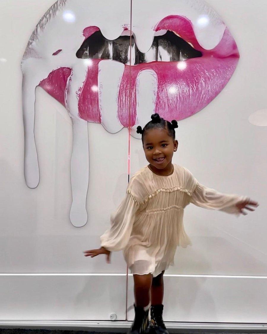 Mini Mogul! Khloe Kardashian's Daughter True Visits Kylie Cosmetics Office