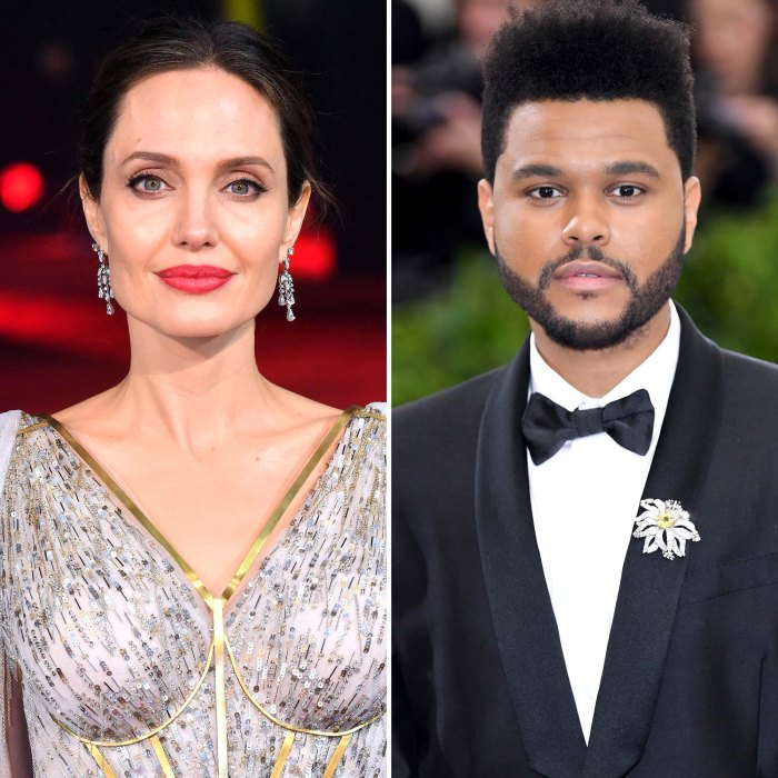 Moving On Angelina Jolie Spotted Out Dinner With The Weeknd Again