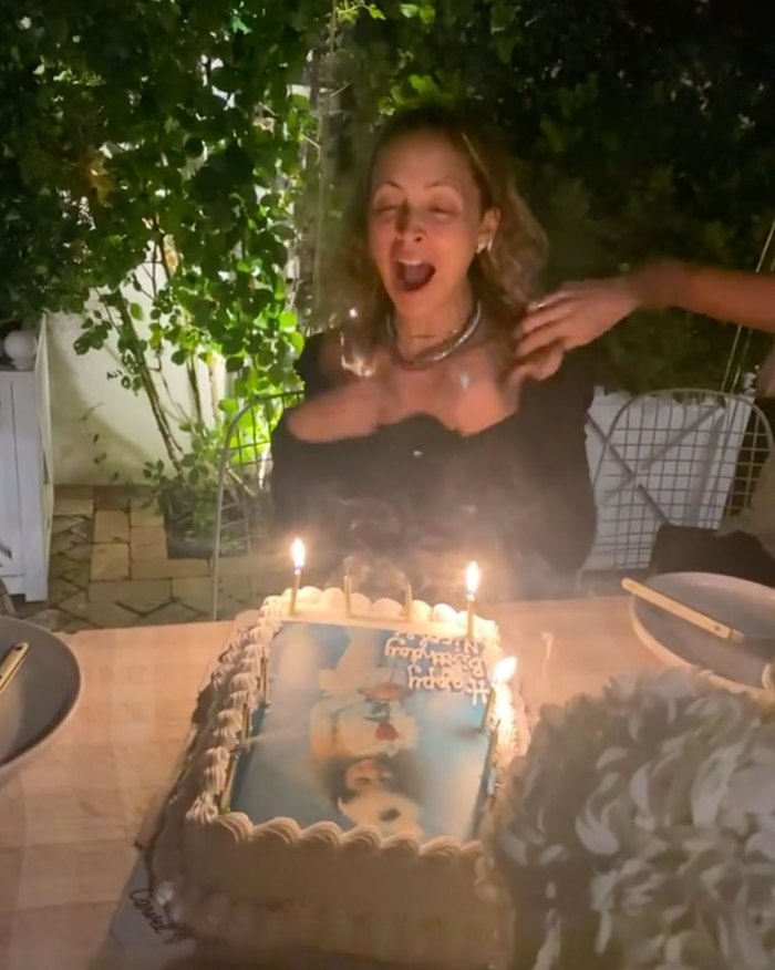 Nicole Richie Accidentally Sets Her Hair on Fire During Her 40th Birthday Party