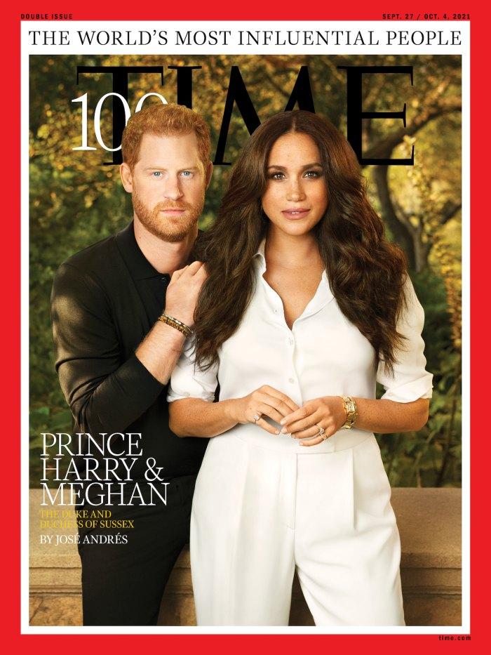Príncipe Harry Meghan Markle Cover Time 100 personas más influyentes